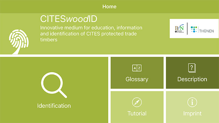 App CITESwoodID - published on October 24, 2020